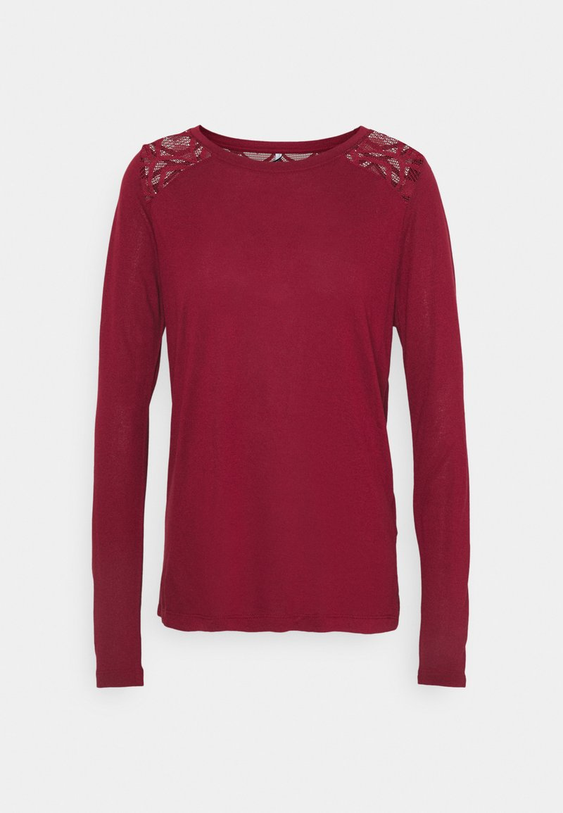 ONLY - ONLNICOLE LIFE NEW MIX  - Long sleeved top - pomegranate