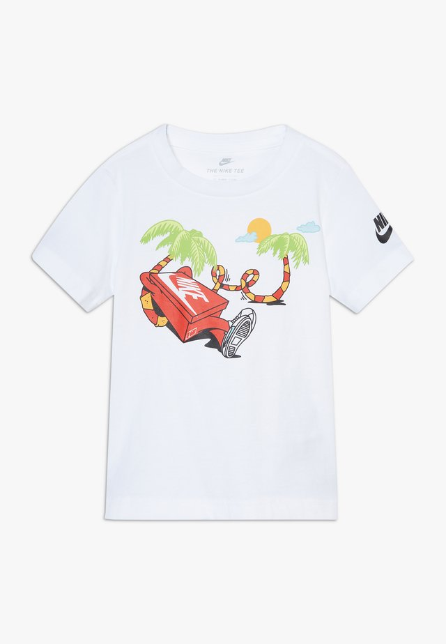 BOYS ERMSY SHOE BOX TEE - T-shirt z nadrukiem - white