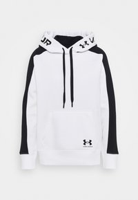 Under Armour - RIVAL HOODIE - Mikina s kapucí - white - 3
