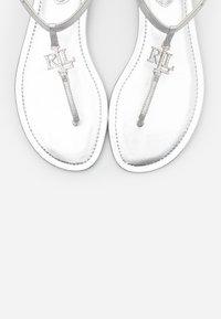 Lauren Ralph Lauren - ELMSTEAD - T-bar sandals - bright silver - 6