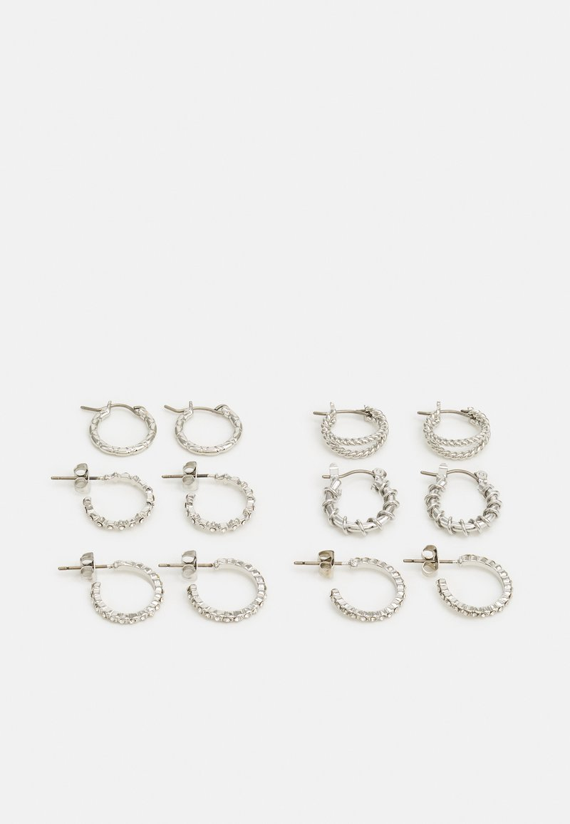 Pieces - PCRIKKY EARRINGS 6 PACK - Earrings - silver colour