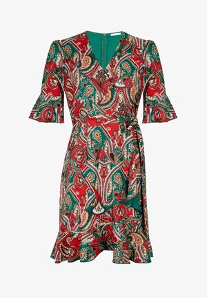 RUFFLED PAISLEY - Overal - red