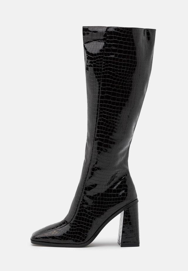VEGAN - Stivali con i tacchi - black