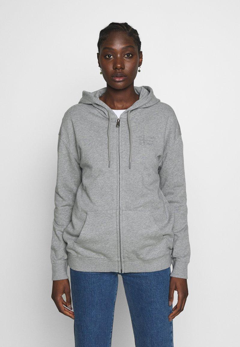 Napapijri - BICCARI - Mikina na zip - med grey mel