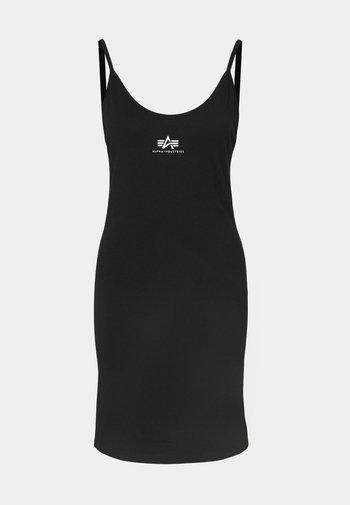 BASIC DRESS SMALL LOGO - Jersey dress - black
