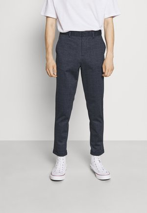 CHECKED SUPERFLEX PANTS - Chino kalhoty - blue