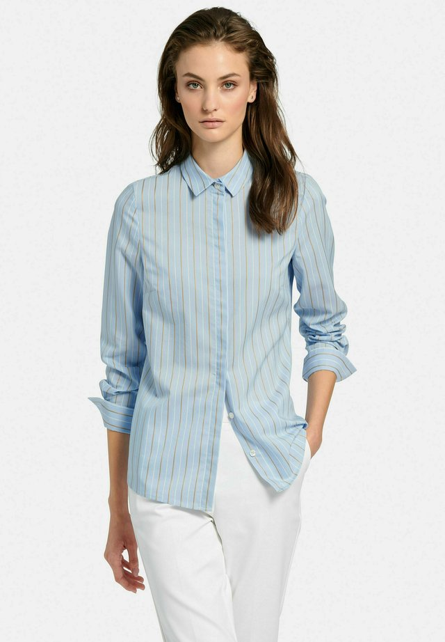Button-down blouse - hellblau/multicolor