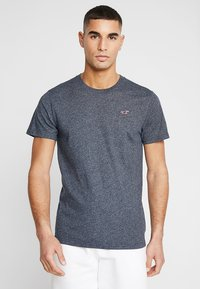 Hollister Co. - CORP ICON CREW - Print T-shirt - navy - 0