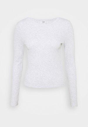 THE TURN BACK LONG SLEEVE  - Langærmede T-shirts - sliver marle
