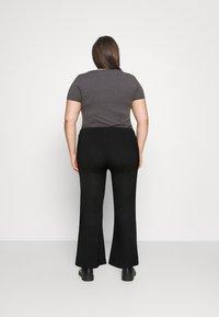 Pieces Curve - PCMOLLY  PANTS - Trousers - black - 2