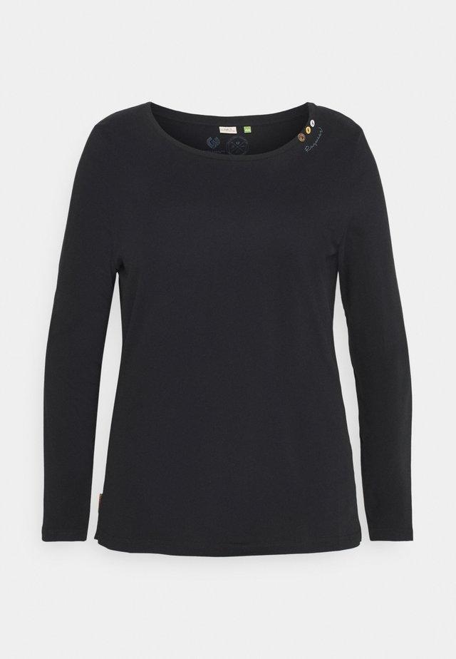 FLORAH LONG - T-shirt à manches longues - black uni