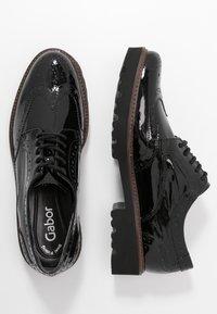 Gabor - Lace-ups - schwarz/cognac - 3