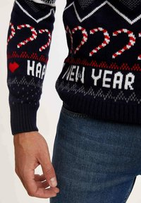 DeFacto - NEW YEAR - Stickad tröja - navy - 2
