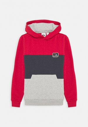 TROPICAL BLOCK HOOD YOUTH - Hoodie - american red