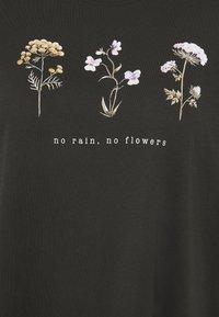 Even&Odd Curvy - HATTIE WILDFLOWERS NO RAIN TEE - Printtipaita - anthracite - 2