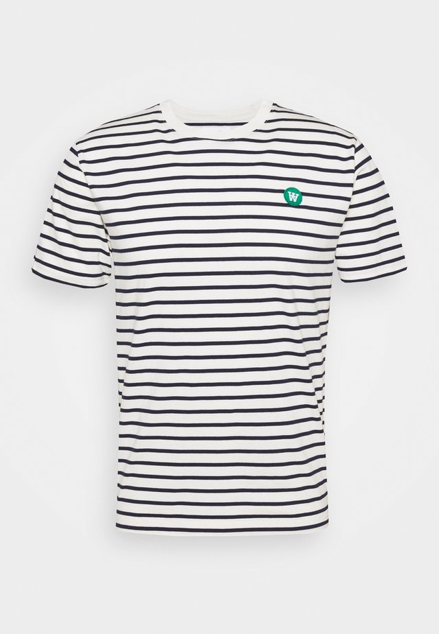 ACE - T-shirts med print - offwhite/navy