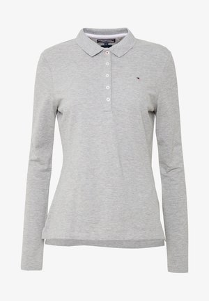 LONG SLEEVE SLIM - Polo shirt - light grey