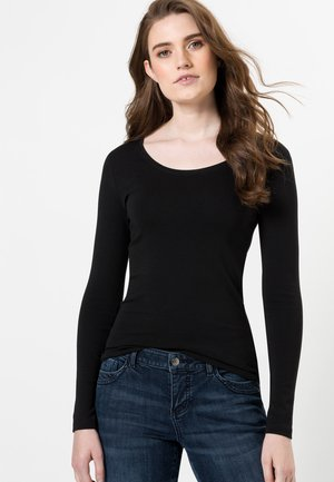 MIT RUNDHALSAUSCHNITT - Long sleeved top - black