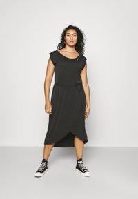 Ragwear Plus - ETHANY - Jersey dress - black - 0