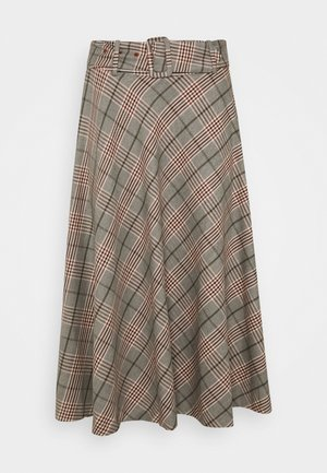 SKIRT MIDI - A-line skirt - multi-coloured