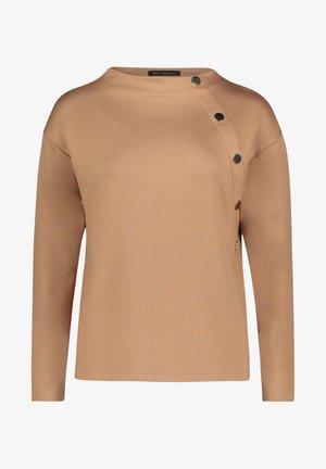 MIT STEHKRAGEN - Sweatshirt - beige