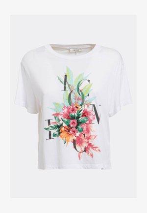 CROPPED LOGO ICON - Print T-shirt - weiß