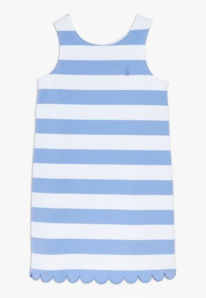 PONTE - Jersey dress - harbor island blue/white