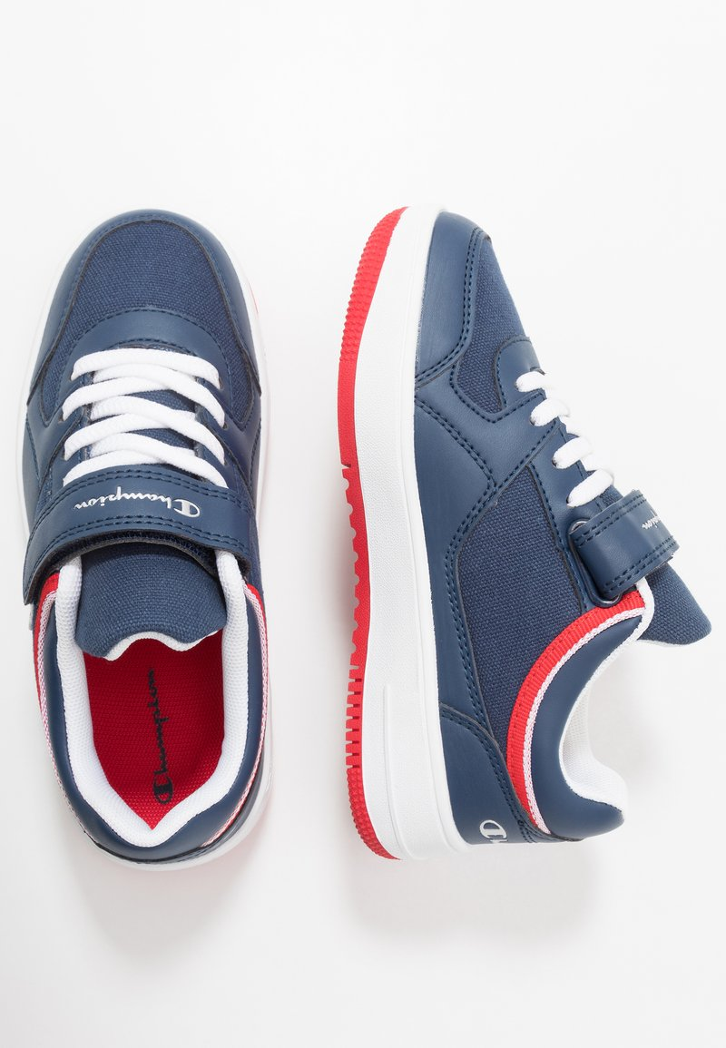 Champion - LOW CUT SHOE NEW REBOUND UNISEX - Basketball shoes - navy