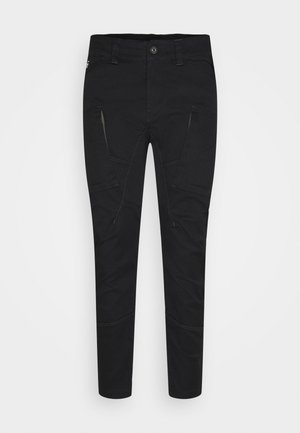 ZIP PKT 3D SKINNY  - Cargo trousers - dark black