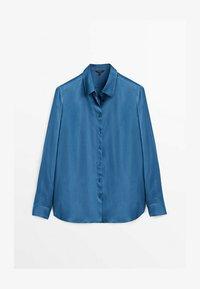 Massimo Dutti - FLIESSENDES  - Shirt - blue - 0