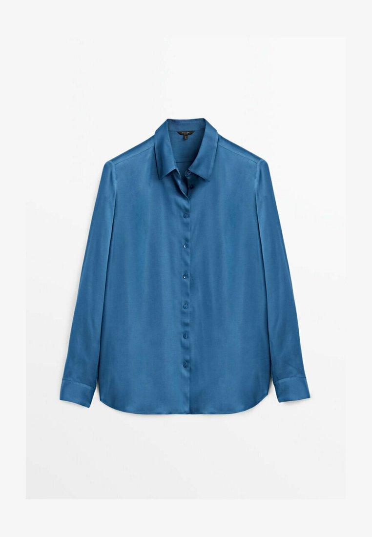 Massimo Dutti - FLIESSENDES  - Shirt - blue