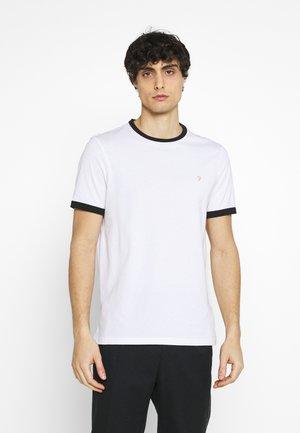 GROVES RINGER TEE - Jednoduché triko - white