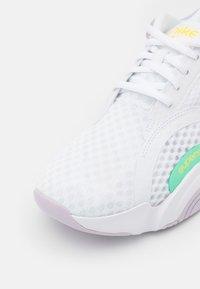 Nike Performance - SUPERREP GO 2 - Sports shoes - white/green glow/infinite lilac/football grey/laser orange - 5