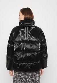 Calvin Klein Jeans - HIGH SHINE PUFFER - Winter jacket - ck black - 2