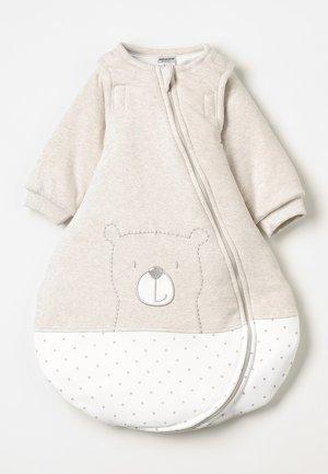 MIT ABNEHMBAREN ÄRMELN HELLO WORLD - Baby's sleeping bag - beige melange