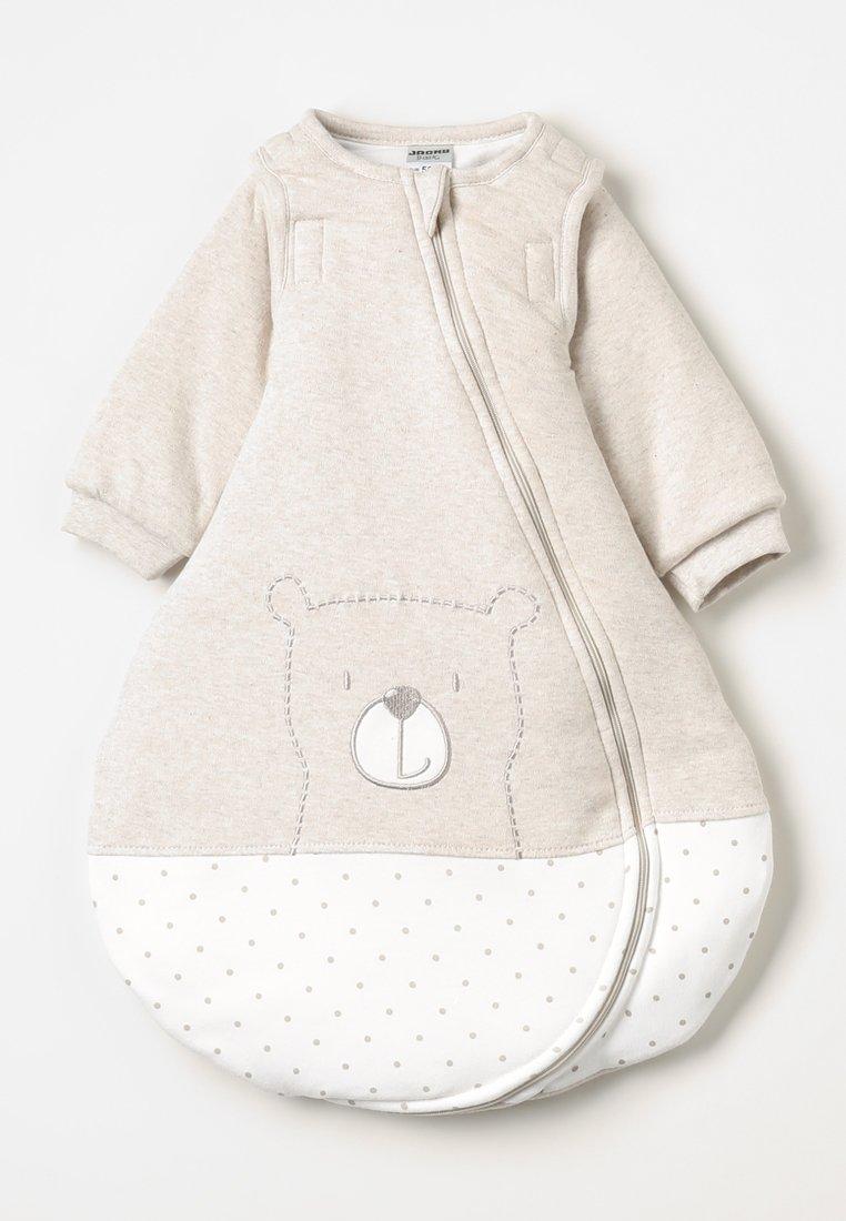 Jacky Baby - MIT ABNEHMBAREN ÄRMELN HELLO WORLD - Baby's sleeping bag - beige melange