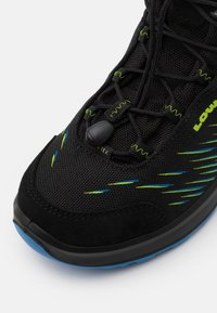 Lowa - ZIRROX GTX MID JUNIOR UNISEX - Hiking shoes - schwarz/limone - 5
