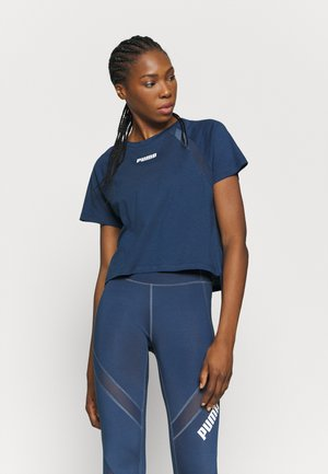 PAMELA REIF X PUMA COLLECTION  BOXY TEE - Triko s potiskem - blue