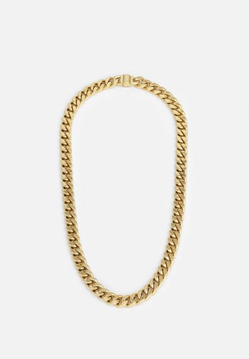 CURB UNISEX - Necklace - gold-coloured shiny