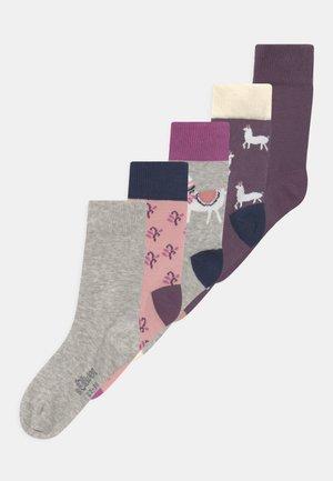 ONLINE JUNIOR ORIGINALS ORGANIC ANIMAL 5 PACK - Socks - pale mauve