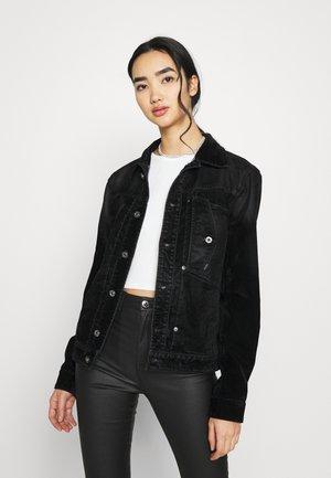 UTILITY SLIM JACKET - Denim jacket - black