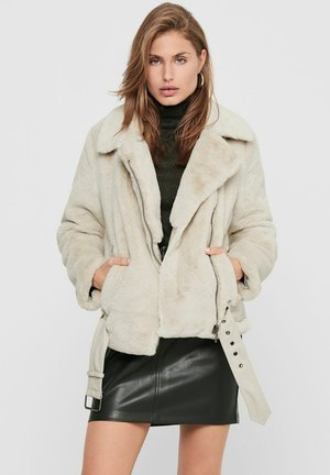 ONLMARY BIKER - Winter jacket - pumice stone