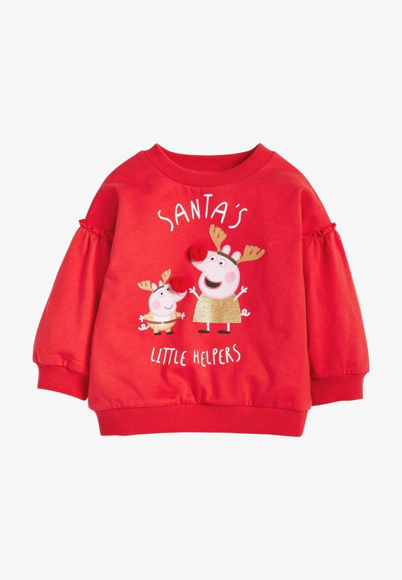 Next - PEPPA PIG CHRISTMAS SWEATSHIRT - Mikina - red