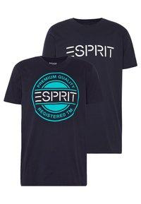 Esprit - 2 PACK - Print T-shirt - navy - 0