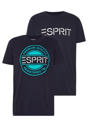 2 PACK - Print T-shirt - navy