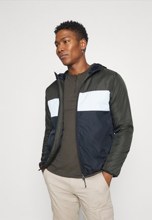 MASSENAPAD - Light jacket - khaki/white/navy