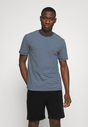 ONSMICK LIFE STRIPE TEE - T-shirt z nadrukiem - dress blues