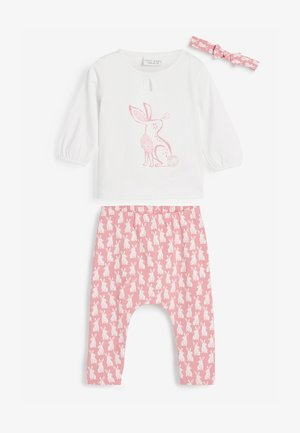 3 PIECE BUNNY SET  - Leggings - Trousers - pink