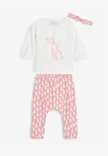 3 PIECE BUNNY SET  - Leggings - Trousers - pink
