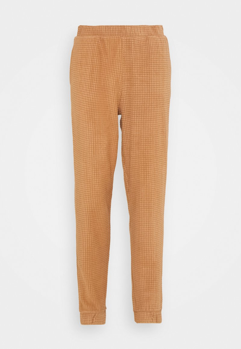Vero Moda - VMWAFFLE PANT  - Tracksuit bottoms - tawny brown